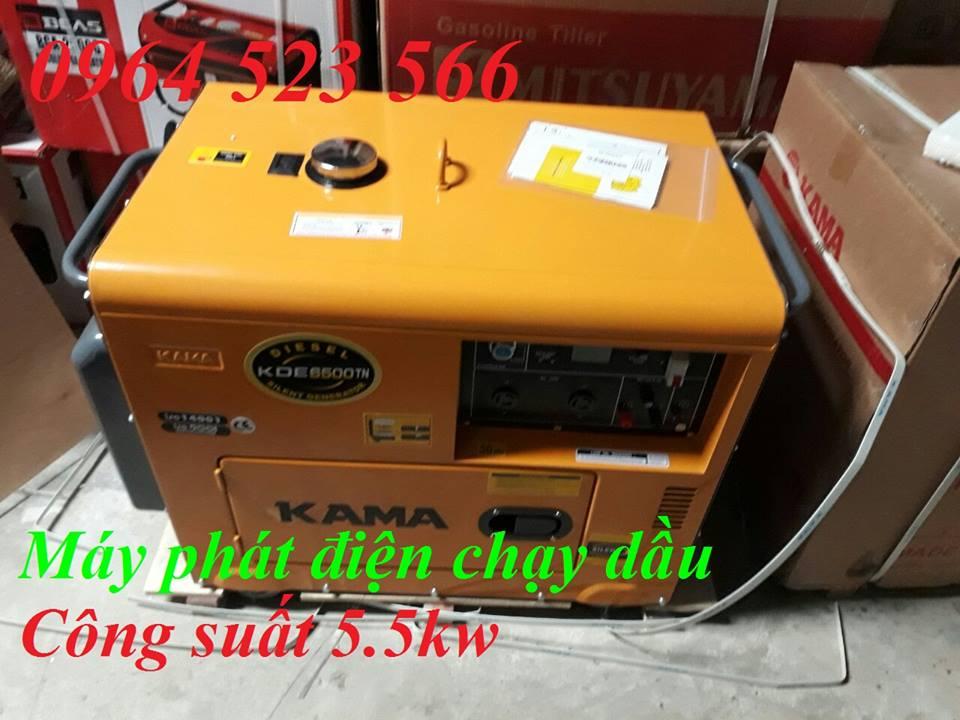 Máy Phát Điện Chạy Dầu 5kw Kama 6500