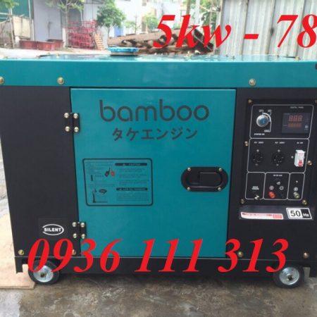 Máy Phát Điện Chạy Dầu 5kw Bamboo 7800ET