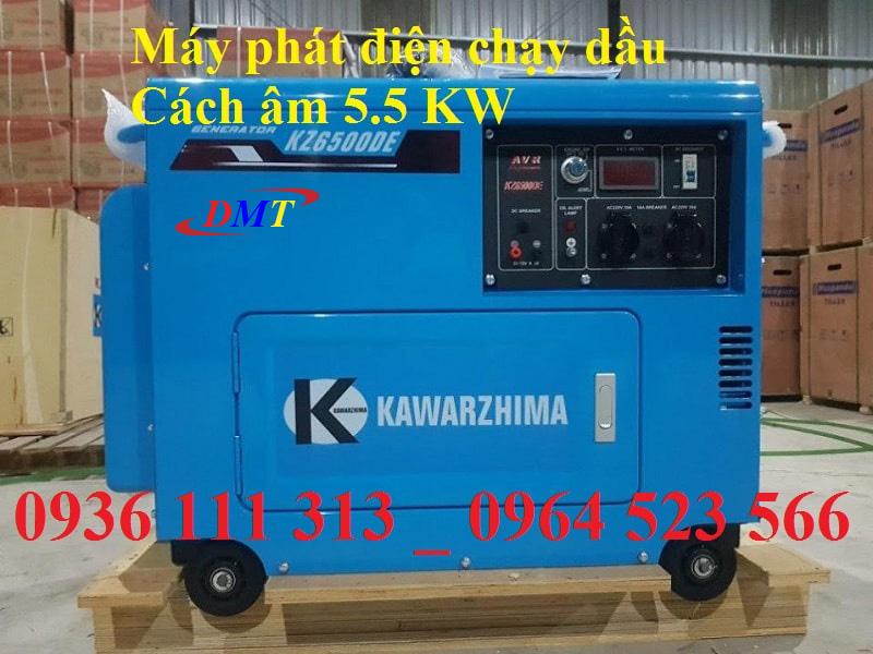 Máy Phát Điện Kawarzhima 6500 Chạy Dầu 5kw
