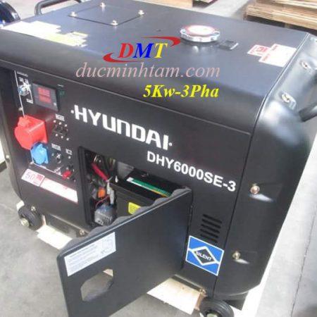Hyundai DHY6000SE-3 Chạy Dầu 5Kw 3Pha