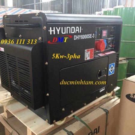 Máy Phát Điện Chạy Dầu 5Kw 3pha Hyundai DHY6000SE-3