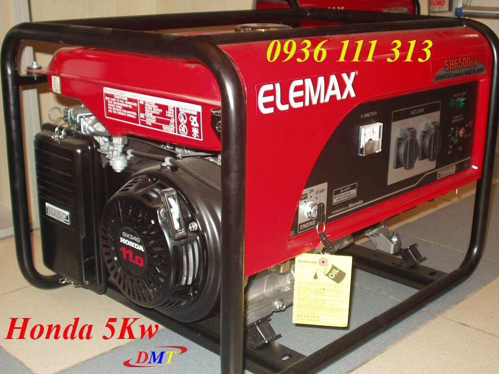 Máy Phát Điện Honda 5Kw - Elemax SH6500EX Nhật Bản