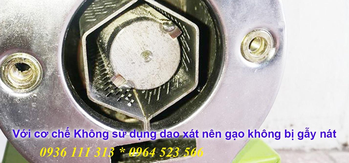 Máy Xát Gạo Với Trục Hợp Kim Sàng INOX Siêu Bền