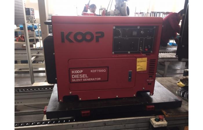 Máy Phát Điện Chạy Dầu 5Kw Koop KDF7500Q