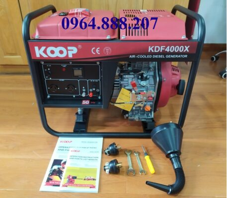 Máy phát điện chạy dầu 3kW KOOP KDE4000X
