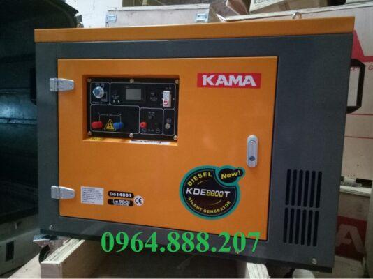 Máy phát điện chạy dầu 7kW KAMA KDE8800T